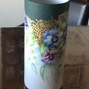 Hand painted flower vase